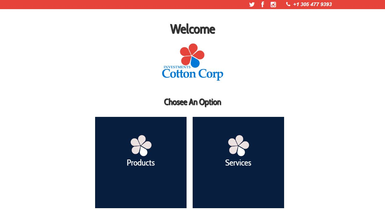 Sección Principal - Investments Cotton Corp